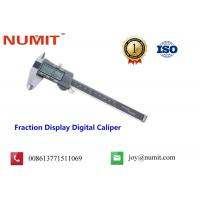 Buy cheap Fraction Display Digital Caliper with Fine-adjusted Roller product