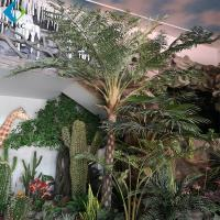 Buy cheap Alsophila Spinulosa Artificial Palm Trees With Fiberglass Trunk Easy Install product