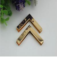 Buy cheap Accept OEM light gold 40 mm right-angle metal corner protector for wooden box decorative product