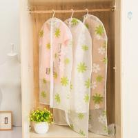 Buy cheap Transparent closet Hanging Garment Bags flower Printed with Silver Trim Zip product