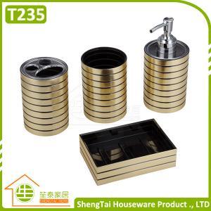 Buy cheap Accessoire de salle de bains en métal d'hôtel réglé avec le porte-savon de support de brosse à dents de culbuteur de distributeur from wholesalers