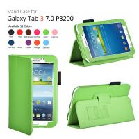 China Green Folio Samsung Galaxy Tab Protective Case For P3200 P3210 on sale