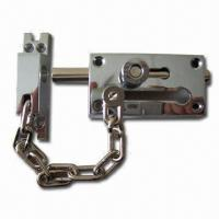 Buy cheap Door Chain and Bolt, Available in Chrome/Brass-plated Finish product