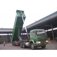 Buy cheap Pull Behind Dump Truck Trailer , Semi Gooseneck Dump Flatbed Trailer 40m3 Loading Weight product