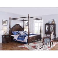 Buy cheap Palatial Villa House Bedroom Furniture set Classic Wooden King size Bed with Grand Night table with Decoration display product