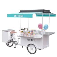 Buy cheap Multipurpose Mobile Food Stand , Commercial Food Cart Pure Steel Body product