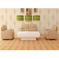 Buy cheap Natural Style Modern Removable Wallpaper , Damask Pattern Wood wallpaper With Foam Surface Treatment product