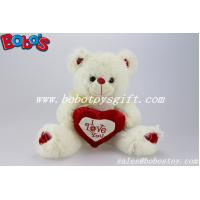 Buy cheap I Love You Beige Valentine Teddy Bear With Red Heart Pillow product
