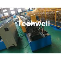 Buy cheap 1.0-3.0mm Coil Thickness , PLC Frequency Control Guide Rail Cold Roll Forming Machine product