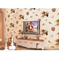 Buy cheap Eco-Friendly Mediterranean Style Non-Woven Wallpaper With Conch And Starfish Printing product
