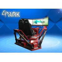 China High Speed 3 Screen Virtual Reality Simulator Racing Motion Car 6 Dof 360 Degree on sale