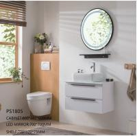 Buy cheap Luxury Wall Hung Bathroom Vanities Cabinets With LED Mirror Hotel / Family Using product