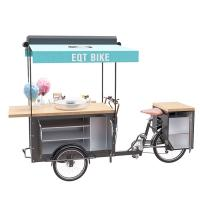 Buy cheap Large Storage Customized Mobile Food Cart European Style Pure Steel Body product