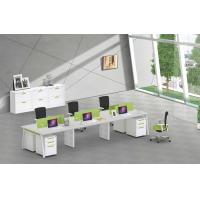 Buy cheap 6 person office table furniture cluster face to face site 3060 steel tube frame product