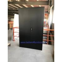 Buy cheap Swing open steel door  Storage Cabinet Black color RAL9005 Lightning lock   H1850XW900XD400mm,KD struc product