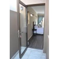 Buy cheap Aluminum Alloy Bifold Hinged Door Swing Open Way Dust Resistance frame glass from wholesalers