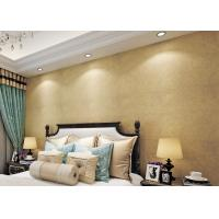 Gold Multifilament Nonwoven Water Resistant Wallpaper / Strippable Wall Paper