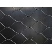 SS316 Black Oxide Wire Rope Mesh Net Weatherproof With 25-300mm Aperture 25-300mm for sale