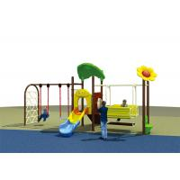 Buy cheap Flower Roof Small Swing Sets , Adjustable Single Swing And Slide Set product