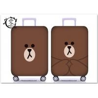 Buy cheap Cute Brown Bear Yellow Duck Luggage Case Cover Custom Digital Printed Suitcase from wholesalers