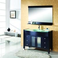 Buy cheap Tempered Glass Sink Bathroom Furniture Vanity (X-040) product