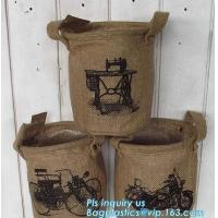 """Buy cheap natural jute burlap foldable decorative storage basket,X-Large Well Standing 26"""" Toy Chest Baskets Storage Bins for Dog product"""