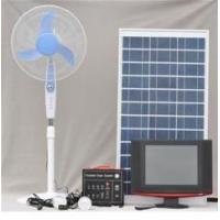 China Portable Solar System 60W (with 2 LED lamps, 12VDC fan, 12V LCD TV) on sale