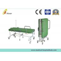 Powder Coated Steel Medical Foldable Hospital Bed With Mattress (ALS-F249)