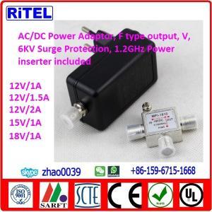 China ac/dc converter power adaptor with 6kv surge protection for catv matv smatv drop amplifier, ftth optic node, cable modem on sale