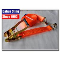 Quality J Hook Auto Ratchet Tie Down Straps 5000 Lb Ratchet Straps 100% Polyester for sale
