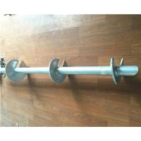 Buy cheap Hot Dip Galvanized Helical Pile Foundations Ground Screw Pole Anchor product