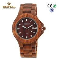 Buy cheap Beautiful Unique Men Wooden Watches , Natural Wood Watches Single Calendar product