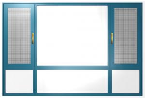 Buy cheap Interior Aluminium Casement Windows Slide And Fold Open Natural Anodised product