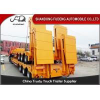 Buy cheap Heavy hydraulic low bed semi truck trailer low loader 80 ton capacity product