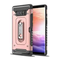 China Luxury 2 In 1 Mobile Phone Cover Shell For Samsung Note 8 Case With Metal Kickstand Holder on sale
