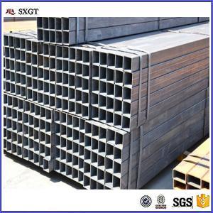 China construction DIN Q345 galvanized square carton steel tube on sale