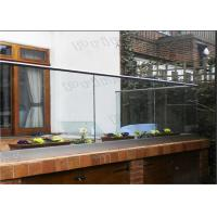 Outdoor Decking Frameless Glass Railing DIY Installation CE Certificated
