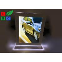 Quality Double Sided LED Crystal Light Box A4 A5 Format Size For Countertop Menu Display for sale