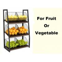 Buy cheap Eyes Catching Supermarket Vegetable And Fruit Display Shelf With Metal Basket product
