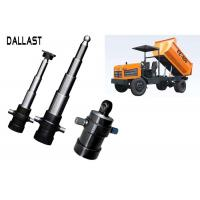 Buy cheap Dump Truck Telescopic Hydraulic Cylinder 3 / 4 Stages Single Acting Chromed product