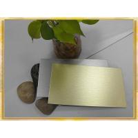 Buy cheap Anodized Brushed Finished Aluminum Composite Panel product