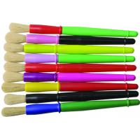 Quality 9 Colors Plastic Handle Paint Brushes , Colorful Watercolor Paint Brush Set OEM for sale