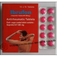 China Western Medicine Ibuprofen Coated or Film Coated Tablets BP 400mg Antipyretic and analgesic drugs wholesale