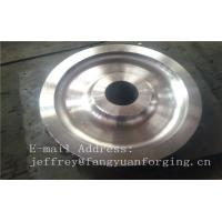 Buy cheap 4140 42CrMo4 SCM440 Alloy Steel Rail Forged Wheel Blanks Quenching And Tempering Finish Machining Mine Industry product
