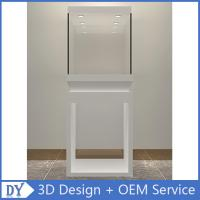 Buy cheap Wholesale good quality wooden square matte white perspex display stands with fully locks lights product