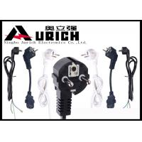 Buy cheap White / Black 250V 16A Electric Dryer Power Cord Two Prong VDE RoHS Certifications product