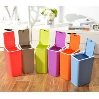 Quality Creative home kitchen bathroom press dust waste litter garbage storage box trash can rubbi for sale