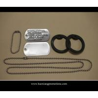 Buy cheap Wholesale no minimum blank cheap dog tag/custom silver,gold,bronze dog tag with ball chain product