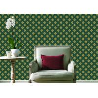 Quality Embossed Pvc Contemporary Wall Coverings , Four Leaf Home Floral Wallpaper For for sale