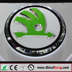 Buy cheap Vacuum coating acrylic round car logo sign , car names and their logos product